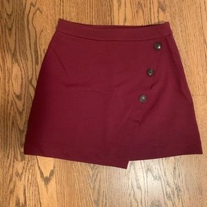 LIKE NEW Burgundy Mini Skirt